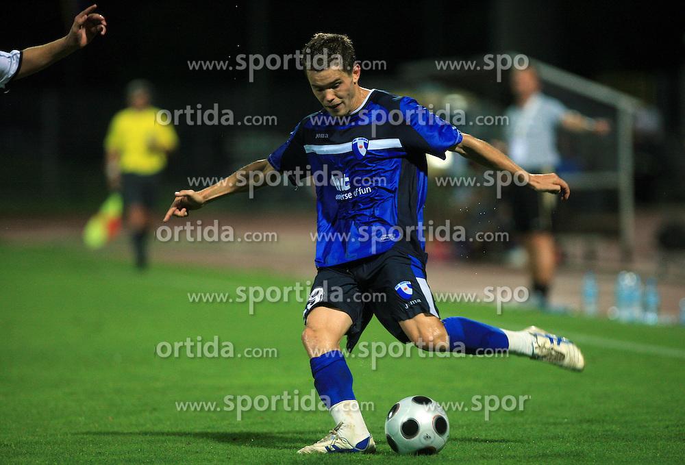 Sebastjan Komel of Gorica during 2nd match of 1st round Intertoto Cup soccer match between ND Gorica and Hibernians FC at Sports park, on June 28,2008, in Nova Gorica, Slovenia. (Photo by Vid Ponikvar / Sportal Images)