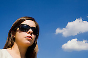 cool and clouds in sunglasses
