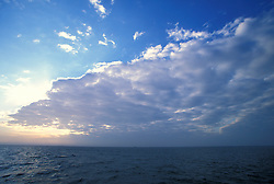 Stock photo of cloud formations over Galveston Bay in the early evening