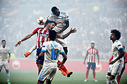 Midfielder Andre Zambo Anguissa of Olympique de Marseille and Midfielder Saul Niguez of Atletico de Madrid during the UEFA Europa League, Final football match between Olympique de Marseille and Atletico de Madrid on May 16, 2018 at Groupama Stadium in Decines-Charpieu near Lyon, France - Photo Jean-Marie Hervio / ProSportsImages / DPPI