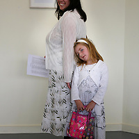 Arts Officer Siobhain Mulcahy with her daughter Sadbh Dunne at the Graduate Exhibition 2007 opening at Glor on Thursday evening.<br /><br />Photograph by Eamon Ward