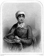 Joanna Baille (1762-1851) Scottish poet and dramatist. Engraving 1870