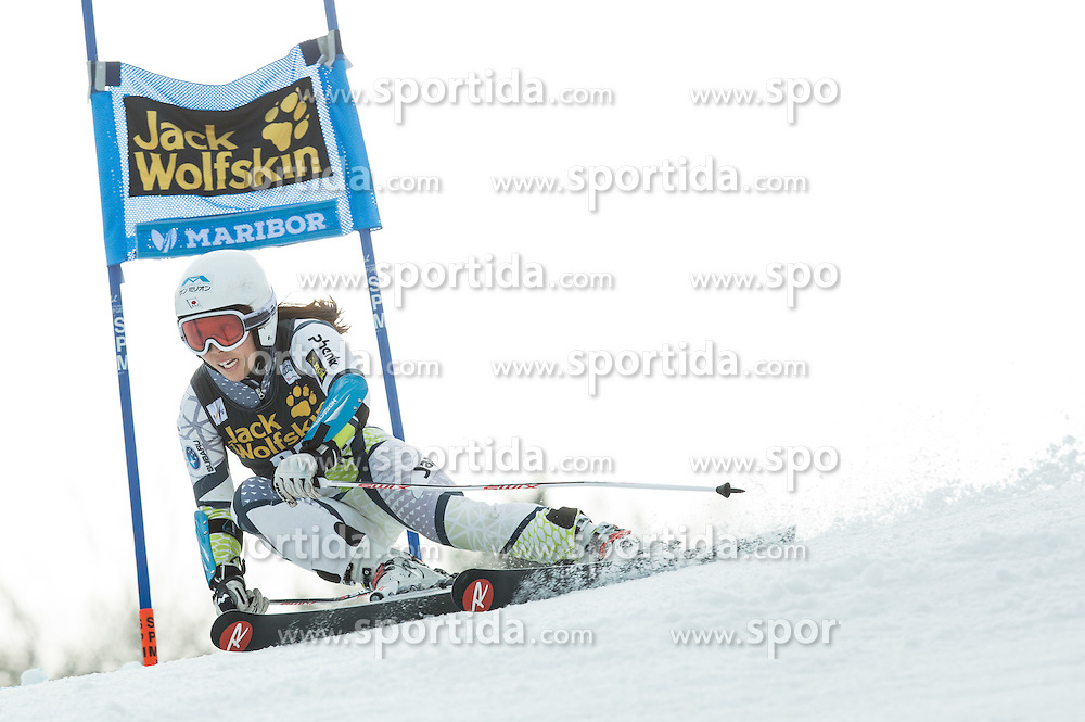 Emi Hasegawa (JPN) competes during 7th Ladies' Giant slalom at 52nd Golden Fox - Maribor of Audi FIS Ski World Cup 2015/16, on January 30, 2016 in Pohorje, Maribor, Slovenia. Photo by Vid Ponikvar / Sportida