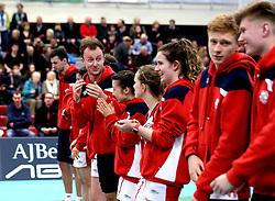 Bristol Jets line up - Photo mandatory by-line: Robbie Stephenson/JMP - 06/02/2017 - BADMINTON - SGS Wise Arena - Bristol, England - Bristol Jets v Surrey Smashers - AJ Bell National Badminton League