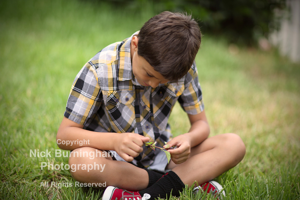 Young boy playing outside - EXCLUSIVE HERE