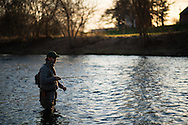 15 APR 2015: Sage Rods and Trout Unlimited life members on Sandie Creek in Webster, NY.