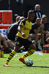 July 22, 2018 - Charlotte, NC, U.S. - CHARLOTTE, NC - JULY 22:  Herbert Bockhorn (39) of Borussia Dartmund with the ball during the International Champions Cup soccer match between Liverpool FC and Borussia Dortmund in Charlotte, N.C. on July 22, 2018.(Photo by John Byrum/Icon Sportswire) (Credit Image: © John Byrum/Icon SMI via ZUMA Press)