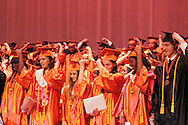 Seniors turn their tassells during the Stivers School For The Arts commencement at the Dayton Masonic Center, Saturday, May 19, 2012.