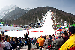 19.03.2010, Planica, Kranjska Gora, SLO, FIS SKI Flying World Championships 2010, Features, im Bild Zielstadion der Flugschanze in Planica, EXPA Pictures © 2010, PhotoCredit: EXPA/ J. Groder / SPORTIDA PHOTO AGENCY