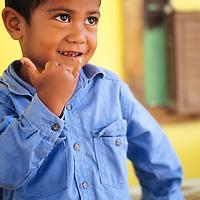 Cook Islands, K?ki '?irani, South Pacific Ocean, Aitutaki, portrait of native island boy
