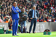 Southampton manager Mark Hughes in the technical area during the Premier League match between Southampton and Chelsea at the St Mary's Stadium, Southampton, England on 7 October 2018.