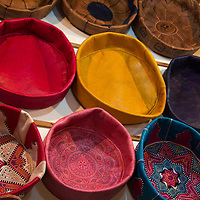North Africa, Morocco, Fes. Leather goods of Fes.