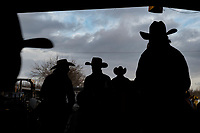 People look at the the cutting horses in the arena during the Red Bluff Bull and Gelding Sale at the Tehama District Fairgrounds in Rd Bluff, CA, Friday, January 26, 2018.<br /> Photo Brian Baer
