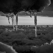 Lake Michigan Icicles - The Dark Look