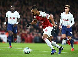 December 19, 2018 - London, England, United Kingdom - London, UK, 19 December, 2018.Pierre-Emerick Aubameyang of Arsenal.during Carabao Cup Quarter - Final between Arsenal and Tottenham Hotspur  at Emirates stadium , London, England on 19 Dec 2018. (Credit Image: © Action Foto Sport/NurPhoto via ZUMA Press)
