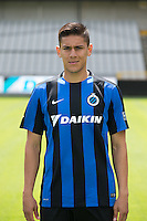 Club's Oscar Duarte poses for the photographer during the 2015-2016 season photo shoot of Belgian first league soccer team Club Brugge, Friday 17 July 2015 in Brugge