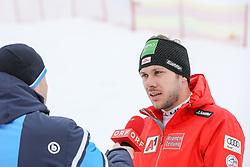 "#55, Planai, Schladming, AUT, FIS Weltcup Ski Alpin, Slalom, Herren, ÖSV Pressegespräch, im Bild Michael Matt (AUT) // Michael Matt of Austria during a press conference of Austrian Skiteam prior to the men's Slalom ""the Nightrace"" of FIS ski alpine world cup at the Planai in Schladming, Austria on. EXPA Pictures © 2019, PhotoCredit: EXPA/ Martin Huber"