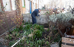 © Licensed to London News Pictures. 26/03/2018. London, UK. Work being carried out on the front garden of the home of Leader of the Labour Party JEREMY CORBYN. Corbyn has publicly apologised for 'pockets' of anti-Semitism within Labour Party following a row over his apparent support for an anti-Semitic mural. Photo credit: Ben Cawthra/LNP