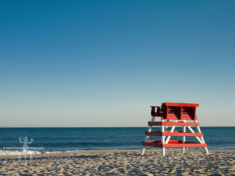 Empty Lifeguard tower, Cape May, New Jersey, USA.