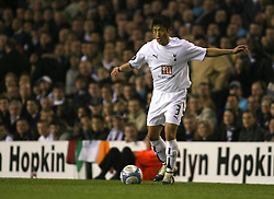 London, England - Wednesday, March 14, 2007: Tottenham Hotspur's Young-Pyo Lee in action against SC Braga during the UEFA Cup match at White Hart Lane. (Pic by Chris Ratcliffe/Propaganda)