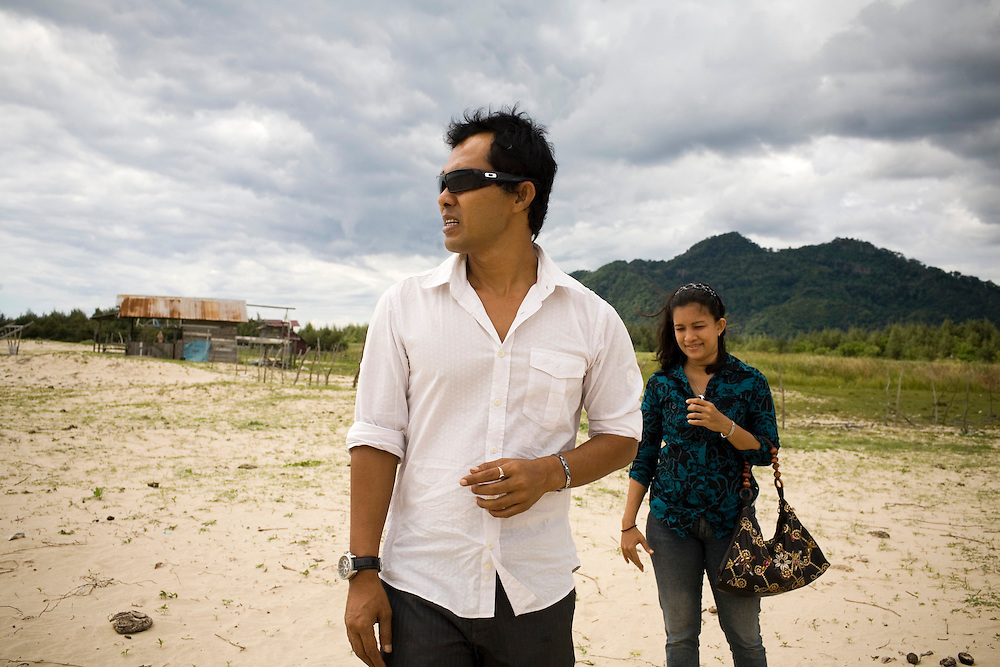 A remote beach where Joel plans to rebuild his bungalows which were destroyed from the 2004 tsunami, in Lampu'uk, a small fishing village just outside of Banda Aceh, Indonesia, on Sunday, Nov. 22, 2009. Tsunami waves travelled 7 km inland, killing one out of four people, and devastating the entire community. Achenese have now returned to the beaches were they spend time..