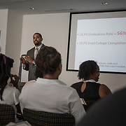 WASHINGTON, DC -JUL22: Gerren Price, Deputy Director of Youth Workforce Development, at the Department of Employment Services, talks to 22-24 year old participants in DC's Student Youth Employment Program, SYEP, attending a workplace training session at the Department of Employment Services in Northeast, Washington, DC, July 23, 2015. (Photo by Evelyn Hockstein/For The Washington Post)
