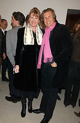 THEO & LOUISE FENNELL at a concert by Charlotte Gordon Cumming in aid of Tusk held at the National Geographical Society, 1 Kensington Gore, London SW7 on 16th March 2006.<br /><br />NON EXCLUSIVE - WORLD RIGHTS