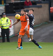 July 30th 2017, Dundee, Scotland; Betfred Cup football, group stages, Dundee versus Dundee United; Dundee United's Scott McDonald and Dundee&rsquo;s Jack Hendry<br /> <br />  - Picture by David Young - www.davidyounghoto@gmail.com - email: davidyoungphoto@gmail.com