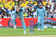 Ben Stokes of England bowling during the ICC Cricket World Cup 2019 semi final match between Australia and England at Edgbaston, Birmingham, United Kingdom on 11 July 2019.