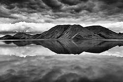 The lake Kirkjufellsvatn, highlands of Iceland -