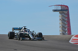 November 3, 2019, Austin, TX, USA: AUSTIN, TX - NOVEMBER 03: Mercedes AMG Petronas Motorsport driver Lewis Hamilton (44) of Great Britain enters turn 10 during the F1 - U.S. Grand Prix race at Circuit of The Americas on November 3, 2019 in Austin, Texas. (Photo by Ken Murray/Icon Sportswire) (Credit Image: © Ken Murray/Icon SMI via ZUMA Press)