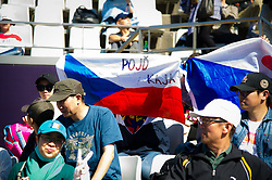 October 1, 2018 - Pliskova Fans in action during her first-round match at the 2018 China Open WTA Premier Mandatory tennis tournament (Credit Image: © AFP7 via ZUMA Wire)