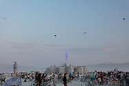 Fun to see groups of skydivers coming down. My Burning Man 2018 Photos:<br />
