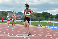 05/08/2017; Przewozna, Kinga, T13, POL, Paciolla, Margherita, ITA, Garcia Melero, Maria De Los Angeles, F12, ESP at 2017 World Para Athletics Junior Championships, Nottwil, Switzerland