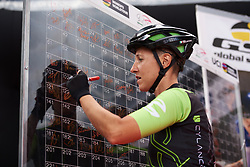 Marta Tagliaferro (ITA) signs on at Giro Rosa 2018 - Stage 5, a 122.6 km road race starting and finishing in Omegna, Italy on July 10, 2018. Photo by Sean Robinson/velofocus.com