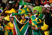 South Africa fans blow horns