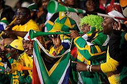 South Africa fans blow horns