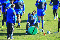 Fulgence OUEDRAOGO / Jake WHITE - nouveau coach - 31.12.2014 - Rugby - Entrainement Montpellier - Top 14<br />Photo : Nicolas Guyonnet / Icon Sport