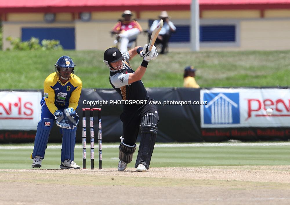 N McCullum. New Zealand Black Caps v Sri Lanka, international exhibition Twenty 20 cricket match, Central Broward Regional Park, Florida, United States of America. 23 May 2010. Photo: Barry Bland/PHOTOSPORT