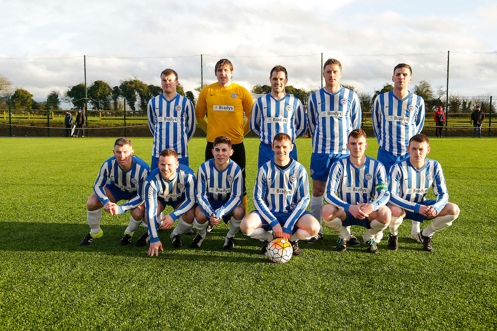 Kilmessan Shield Final at MDL, Navan, 26th March 2016.<br /> Navan Cosmos vs Newfoundwell<br /> Navan Cosmos Team, Back Row, L-R, Donal Callan, Colm Gilsenan, Robbie Dillon, Andrew Rogers, Shaun Doyle. Front Row, L-R, Alan Murphy, Ciaran Rogers, Cillain Corcoran, Conor Walsh, Conor McManus, Colin Lynch<br /> Photo: David Mullen /www.cyberimages.net / 2016