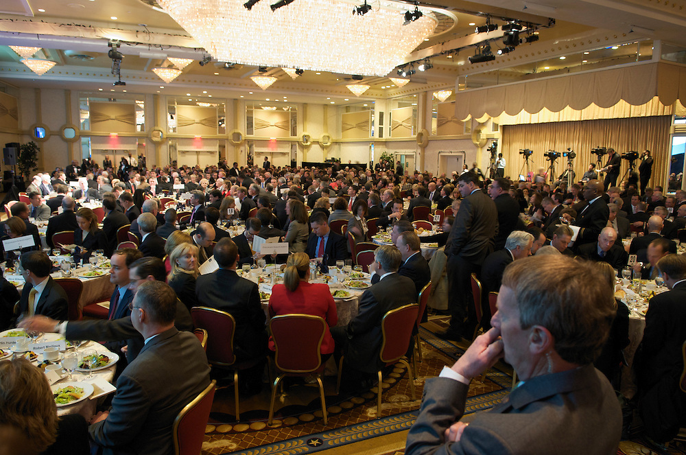 Chairman of the Federal Reserve, Ben Bernanke addresses the Economic Club of Washington at the Capitol Hilton in Washington DC