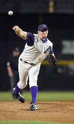 Phoenix,AZ 09-01-04-Arizona Diamondbacks' pitcher Brandon Webb throws in the 2nd inning against the Los Angeles Dodgers. Webb pitched 6 innings with 3 hits and 1 run for the win. Arizona won 3-1. Ross Mason photo