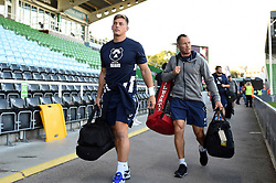 Tom Pincus, Bruce Reihana and the rest of the Bristol Bears team arrive at the Stoop - Mandatory byline: Patrick Khachfe/JMP - 07966 386802 - 20/09/2019 - RUGBY UNION - The Twickenham Stoop - London, England - Harlequins v Bristol Bears - Premiership Rugby Cup