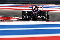 Jean-Eric Vergne (FRA) Scuderia Toro Rosso STR9.<br /> United States Grand Prix, Friday 31st October 2014. Circuit of the Americas, Austin, Texas, USA.