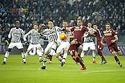 © Filippo Alfero<br /> Juventus-Torino, derby, Coppa Italia 2015/2016<br /> Torino, 16/12/2015<br /> sport calcio<br /> Nella foto: Simone Zaza e Cristian Molinaro