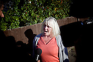 UNITED KINGDOM, Basildon :athleen McCarthy addresses the media at the Dale Farm travellers site in Basildon, Essex,  on September 19, 2011 after winning a last-gasp court injunction delaying their planned eviction  © Christian Minelli..