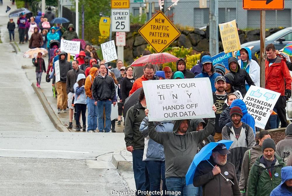 March for Science, Tacoma, Saturday, April 22, 2017. (Photo/John Froschauer)
