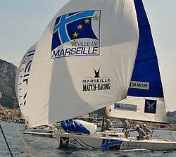 Peter Gilmour of Yanmar Racing gets to grips with conditions in Marseille.
