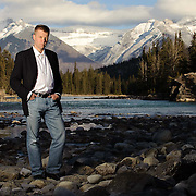 Poet, Christian Bok in Banff.