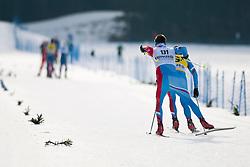 PONOMAREV Oleg Guide: ROMANOV Andrei, RUS at the 2014 IPC Nordic Skiing World Cup Finals - Sprint